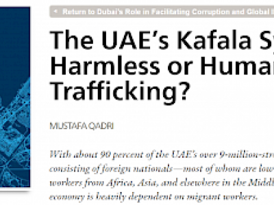 United Arab Emirates' Kafala System - Harmless or Human Trafficking?